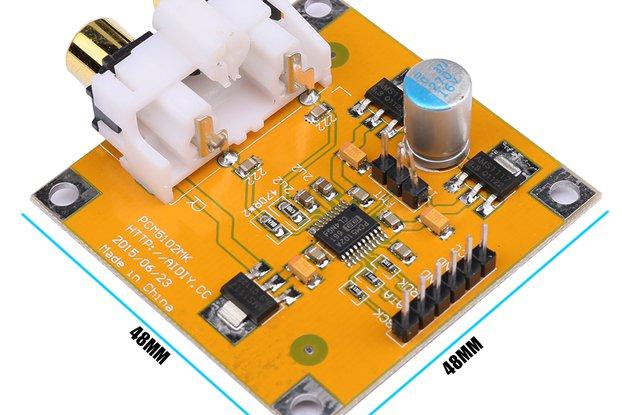 Decoder Board I2S 32Bit 384K For Raspberry Pi Red