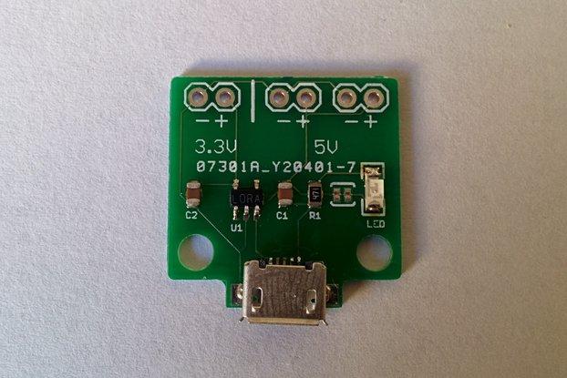 Micro USB Breakout and 3.3v Regulator