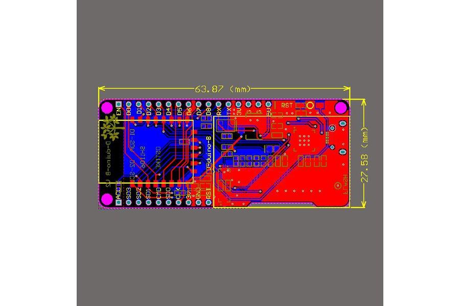 D-duino-B V2(ESP8266+1.3OLED)