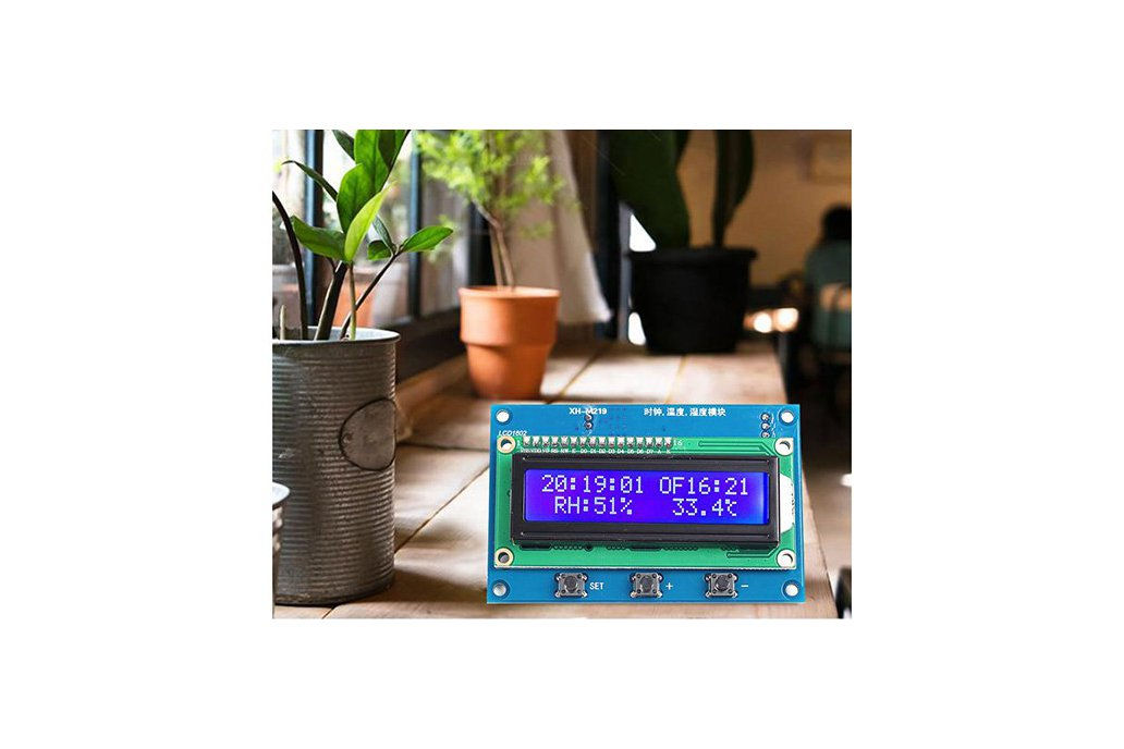Clock Temperature Humidity Tester with LCD (13100) 1