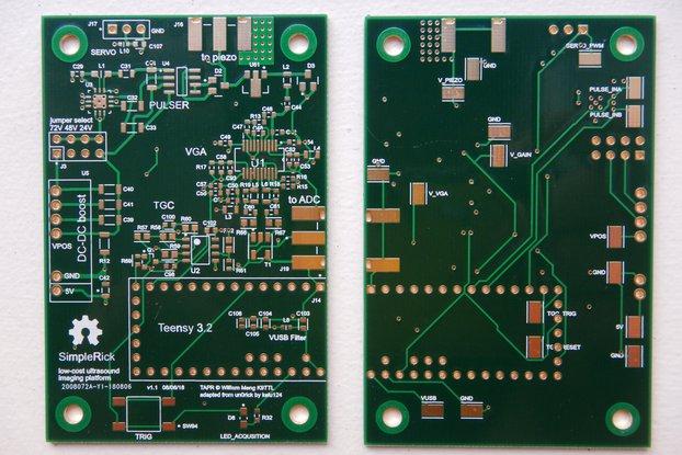 SimpleRick v1.1 prototype PCB