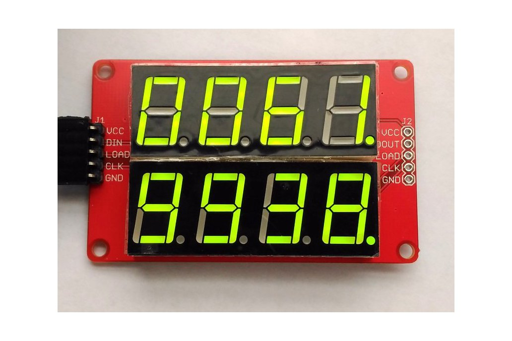 Double row 4-digit seven segment LED display-GREEN 1