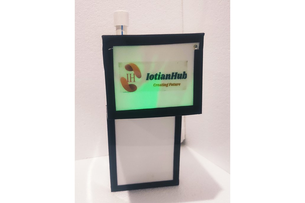 Iotianhub Automatic Hand Sanitizer with Dashboard 1