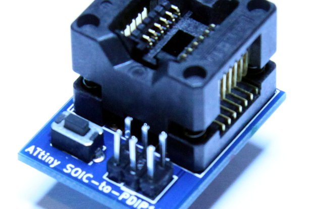 ATtiny 14pin SOIC-to-PDIP adapter