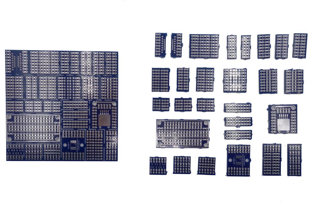Mini protoboard pieces - 28 pcs set only $6! 1