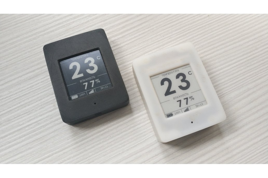 Temp and humid sensor with 1.54-inch e-ink display 1