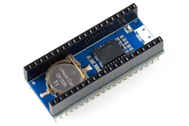 RTC Module for Raspberry Pi Pico, Onboard DS3231