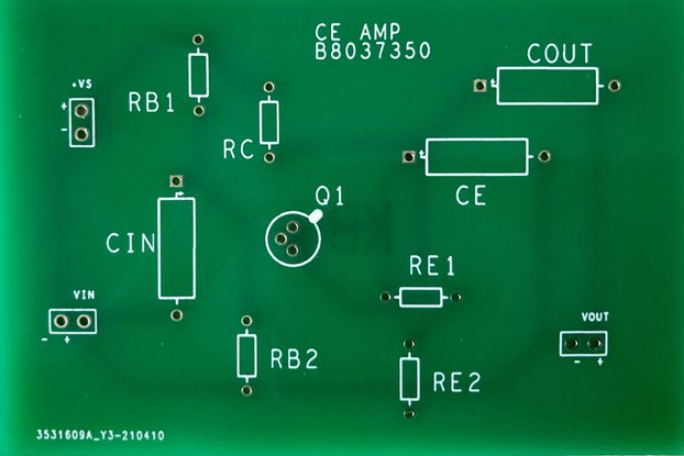 Common Emitter Amplifier PCB