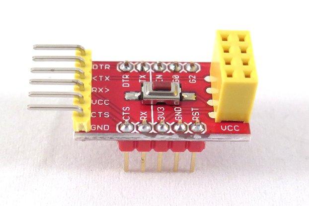 ESP8266 FTDI and breadboard adapter with 3.3V reg.