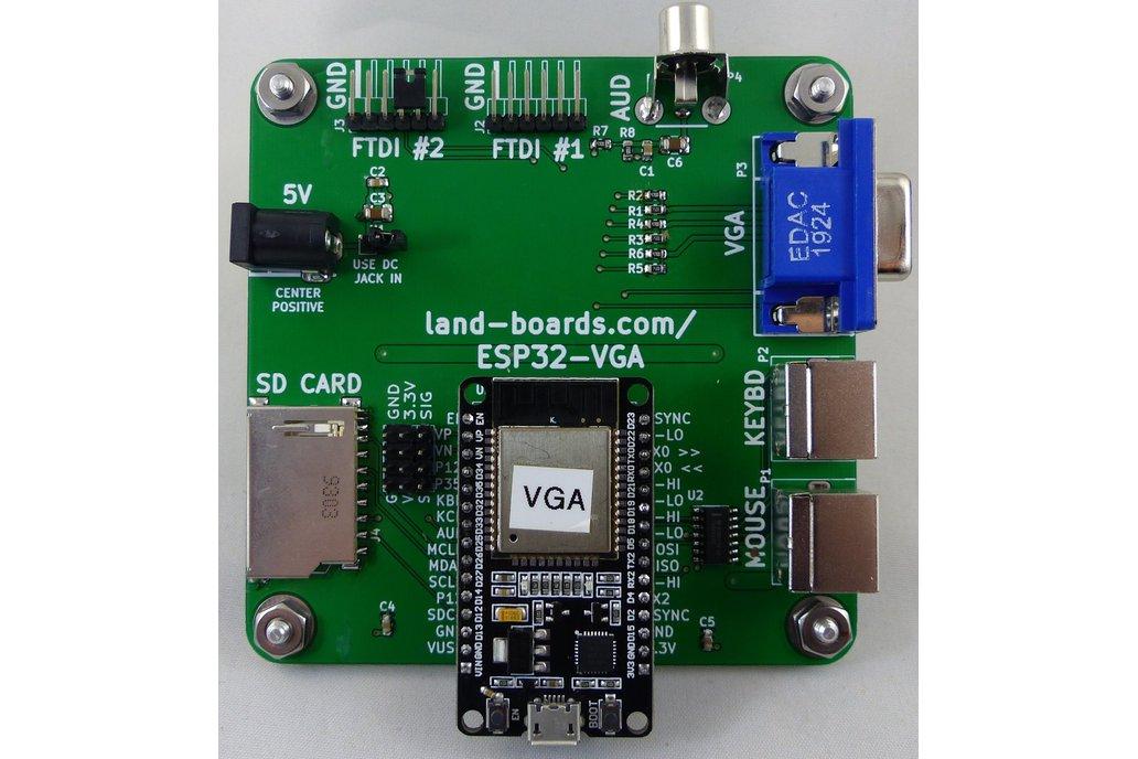 ESP32 VGA, Keyboard, Mouse Card V2 (PCB Only) 1