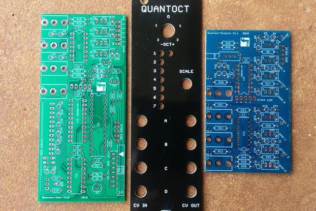 Quantoct - 4 channel quantizer (Eurorack PCB Set)