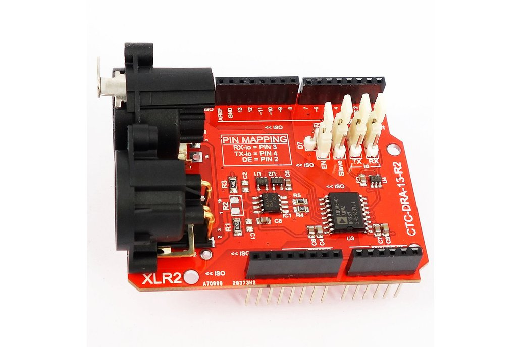 2.5kV Isolated DMX 512 Shield for Arduino - R2 2
