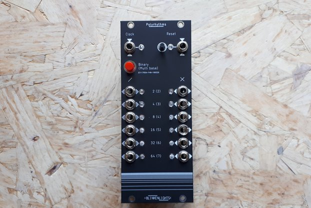 Polyrhythms Kit- Eurorack Clock Divider+Multiplier