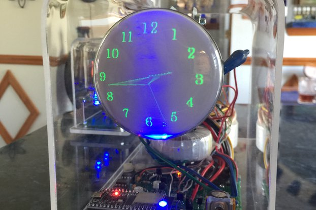 "Oscilloscope Clock round Cathode Ray Tube 3"" CRT"