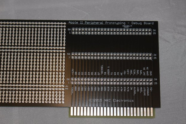 Apple II peripheral card prototyping PCB