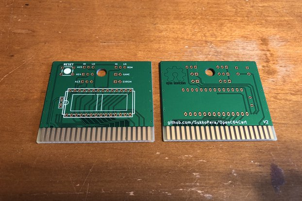 OpenC64Cart Commodore 64 8K Cartridge PCB