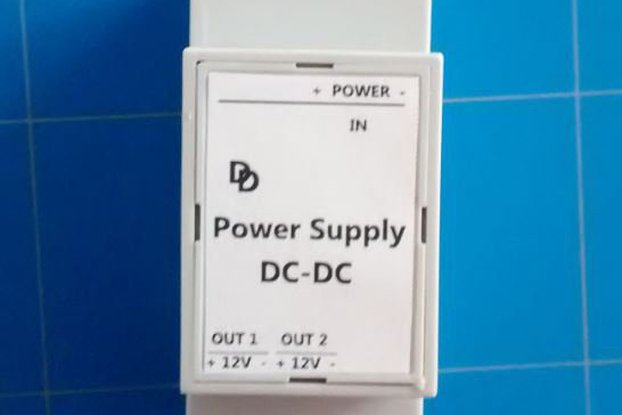 Universal DC-DC 12 Volt DIN-rail Power Supply.