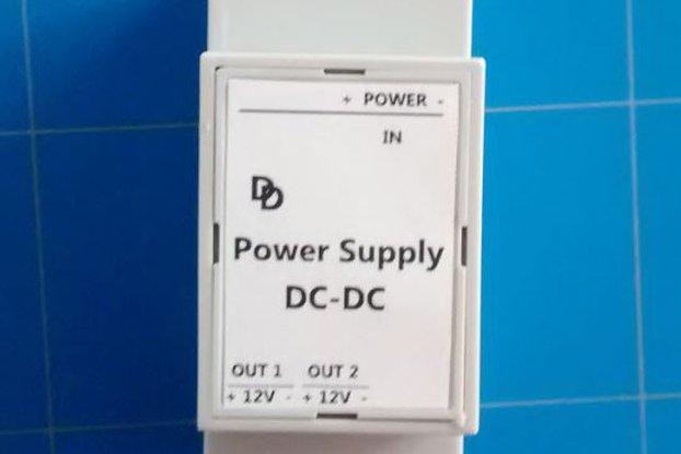Universal DC-DC 12 Volt DIN-rail Power Supply.