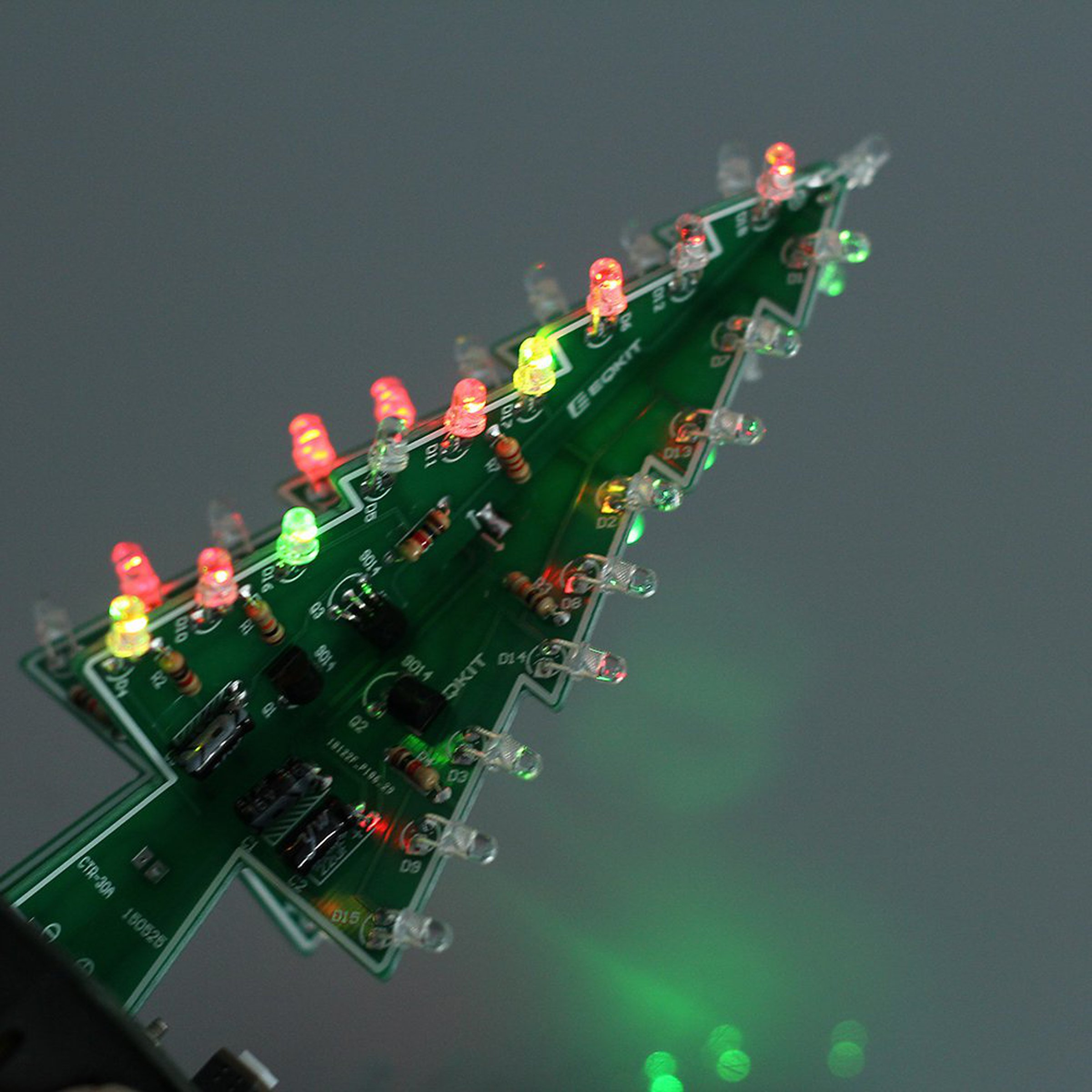 Diy 3d Xmas Tree 7 Color Flash Led Kits7213 From Icstation On Tindie Changing Circuit 3