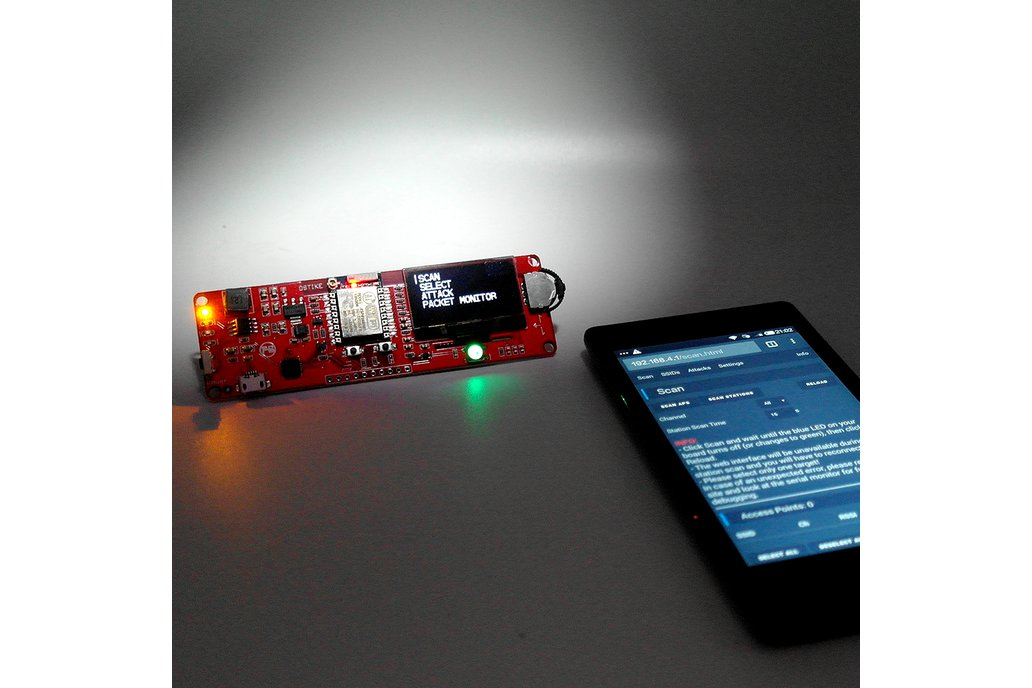 DSTIKE WiFi deauther OLED V3 5 (Added RGB LED) from Travis