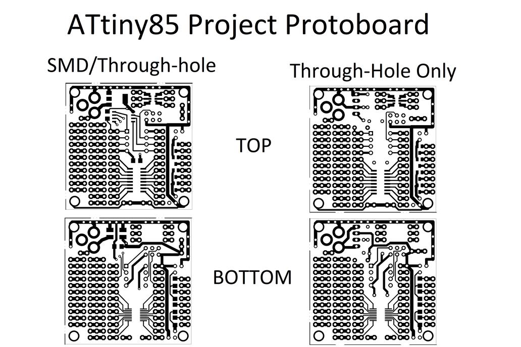 ATtiny85 Project Board 4