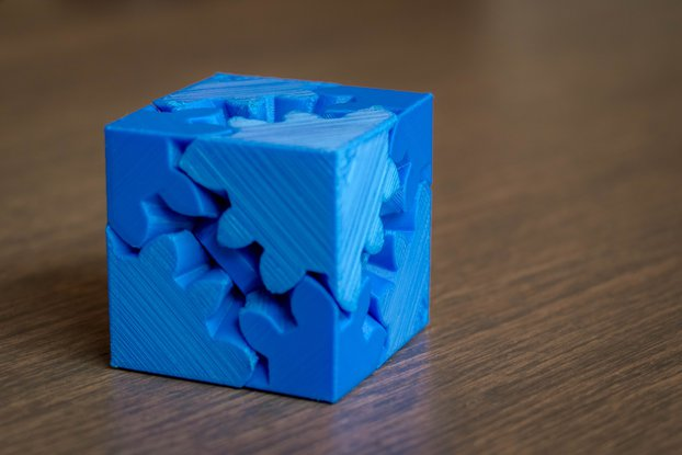 3D Printed Cube Gears Puzzle