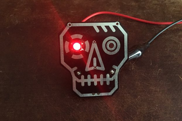 RoboSkull Badge aka Terminator Badge