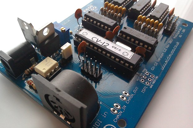 MIDI to CV Converter Kit Midimuso CV12