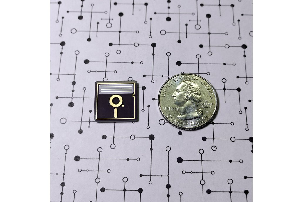 "5.25"" Floppy Disk PCB Lapel Pin 3"