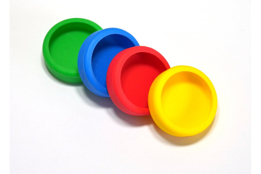 Puck.js cases (Red, Yellow, Green, Blue)