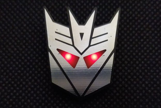 Decepticons rise up - pin badge
