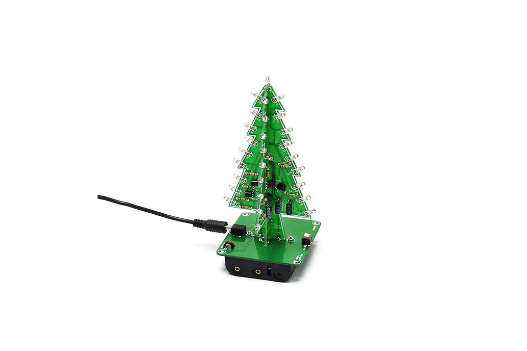 DIY 3D Xmas Tree 7 Color Flash LED Kits(7213) 1