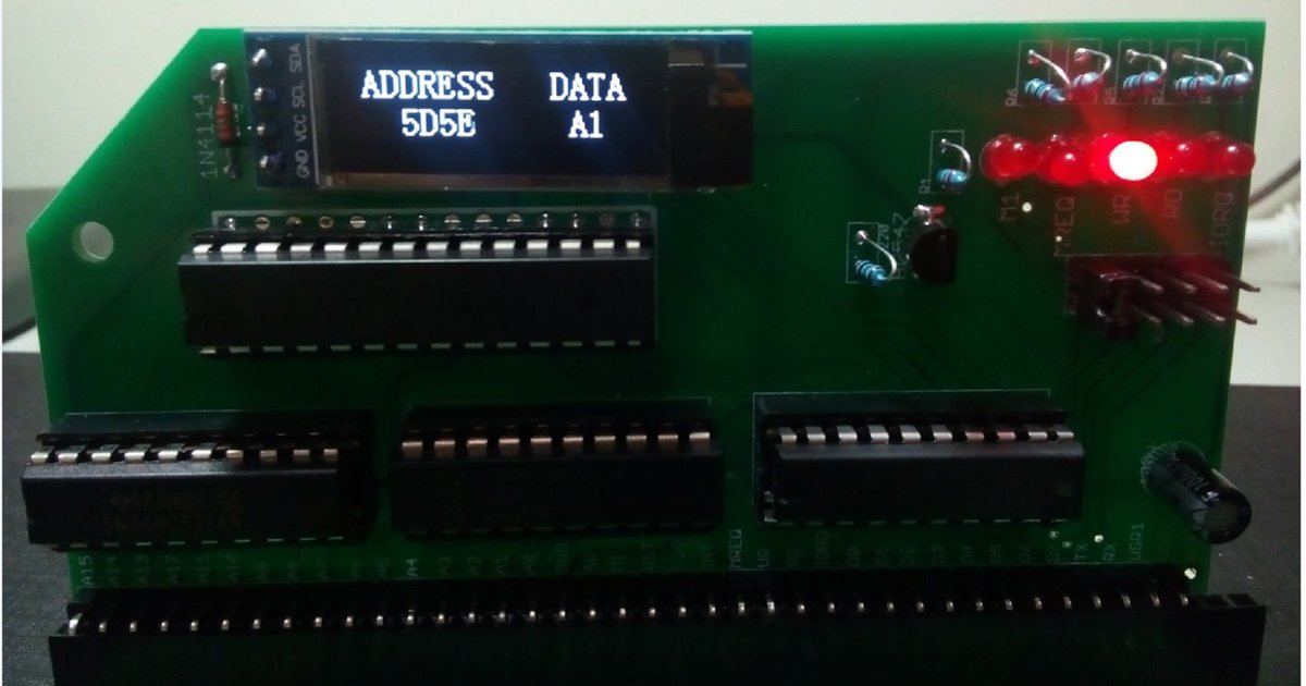Z80 Bus Monitor Board - Designed for RC2014