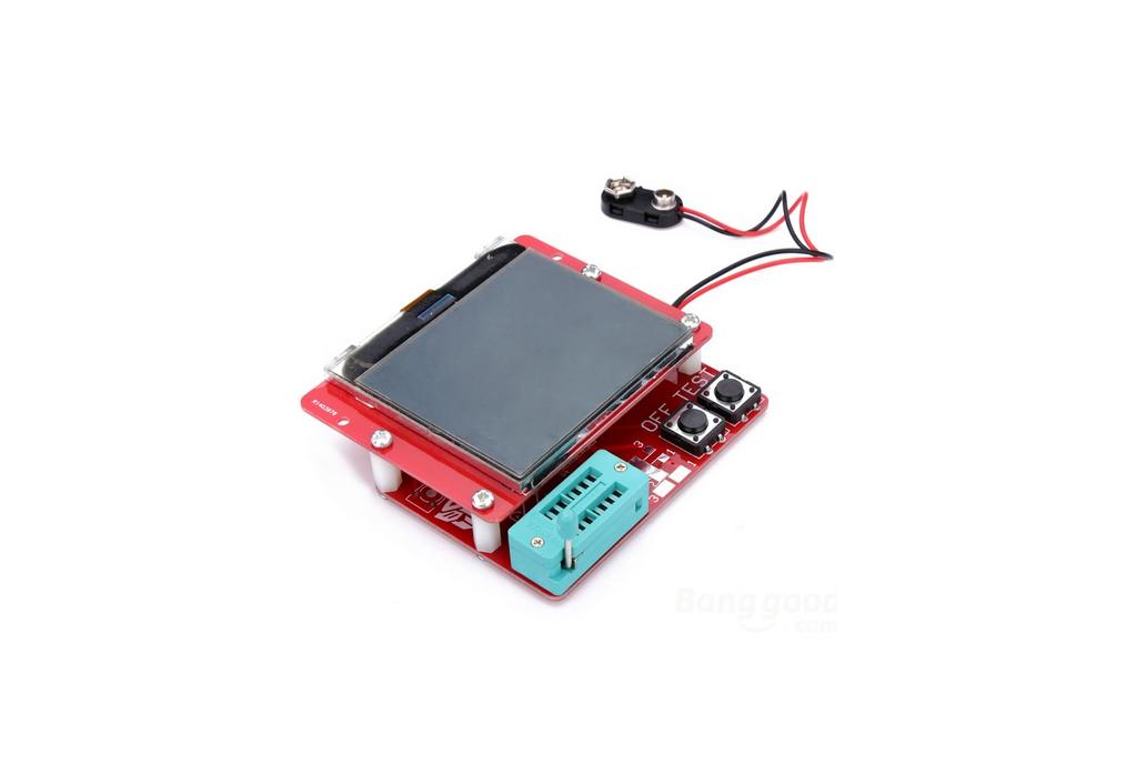 12864 LCD Mega328 Transistor Tester Capacitance ESR Meter Diode Triode MOS/PNP LCR 1