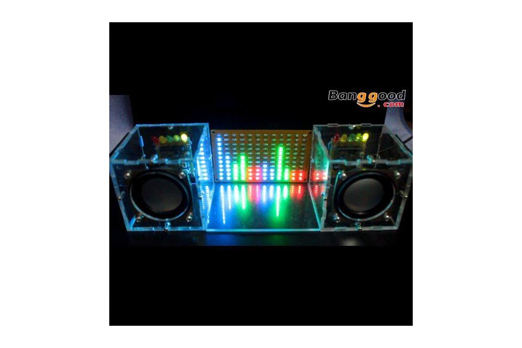 LED Flashing Music Spectrum & DIY Amp Speaker Kit 1