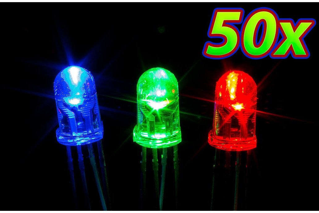 [50 pack] 5mm RGB LED 1