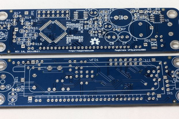 VFD 16 Segment 8 Digits Panel - One Bare PCB