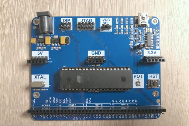 DIP-40 Arduino compatible development board