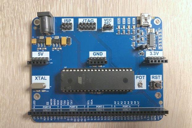 DIP-40 Arduino compatible development board