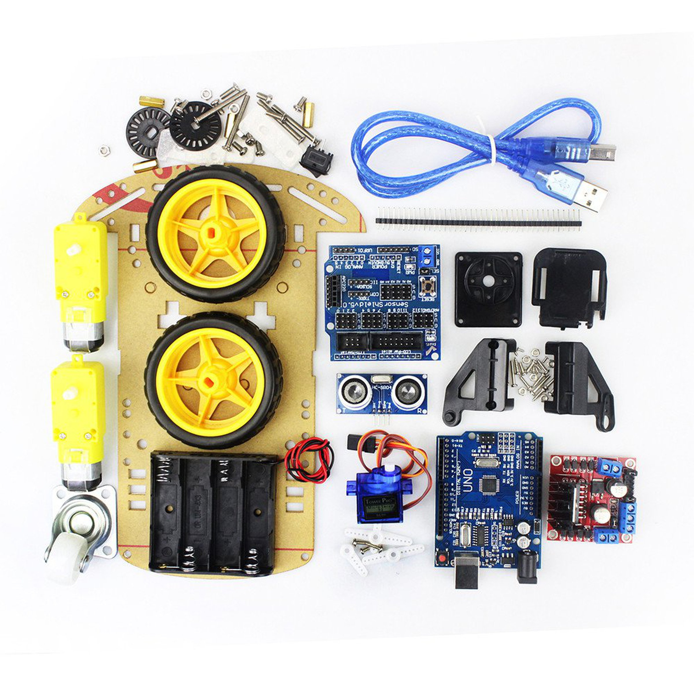 Arduino diy smart robot car kit from robotart on tindie