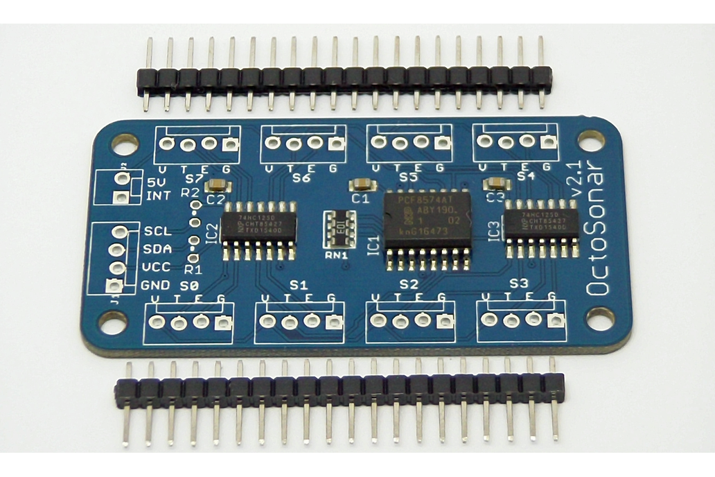 Octosonar - connect 8 x HC-SR04 to Arduino 5