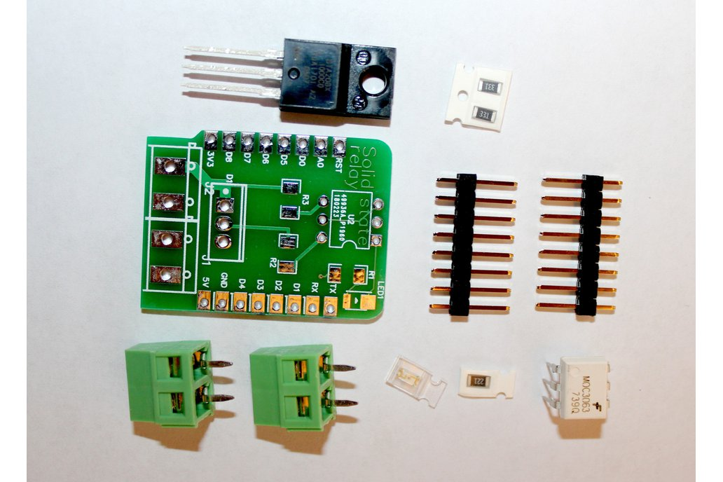 AC Solid State Relay KIT for Wemos D1 Mini 1