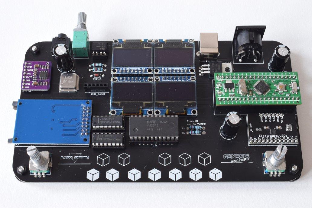 DAFM synth - GENESIS YM2612 / YM3438 - DIY kit 1