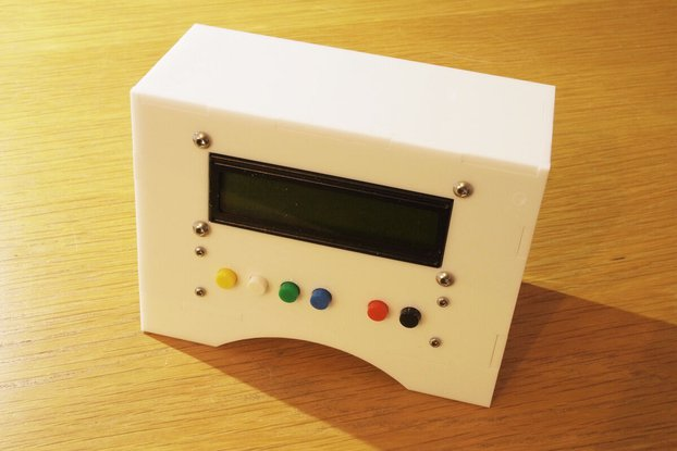 16x2 LCD enclosure / with buttons for Arduino UNO