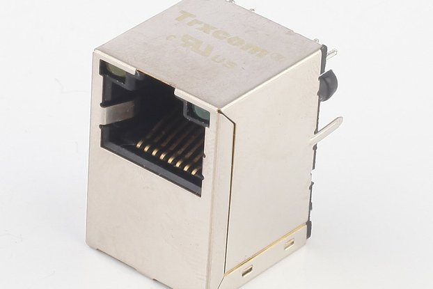 Vertical RJ45 Connector with 1000Base-TX HR871190A