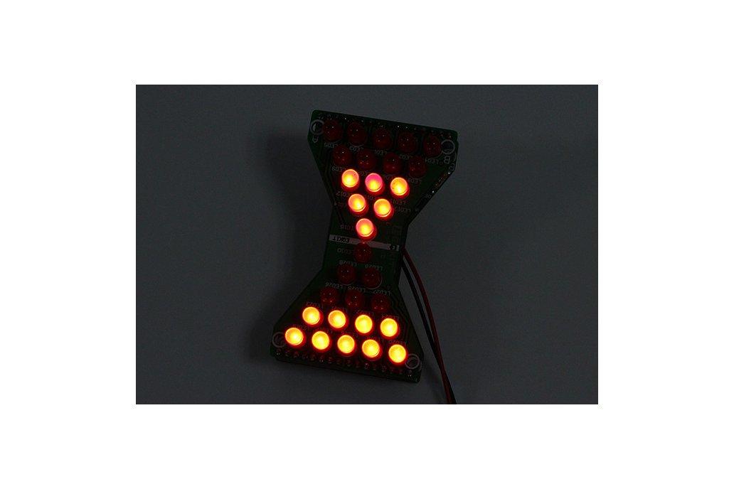 3.3V-5V Red LED Hourglass DIY Kit(13068) 5