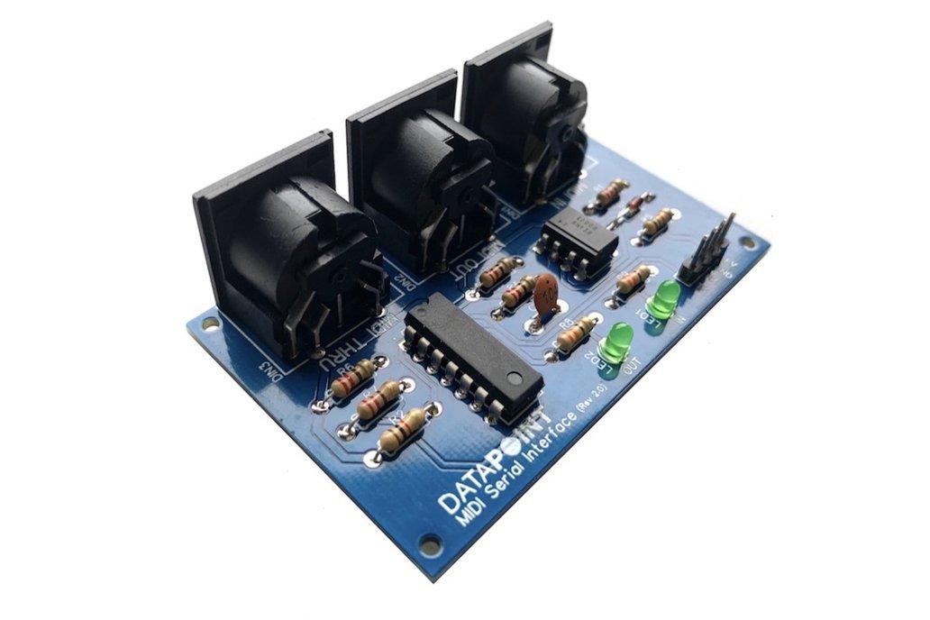 MIDI Serial Interface (with Thru & LED indicators) 1
