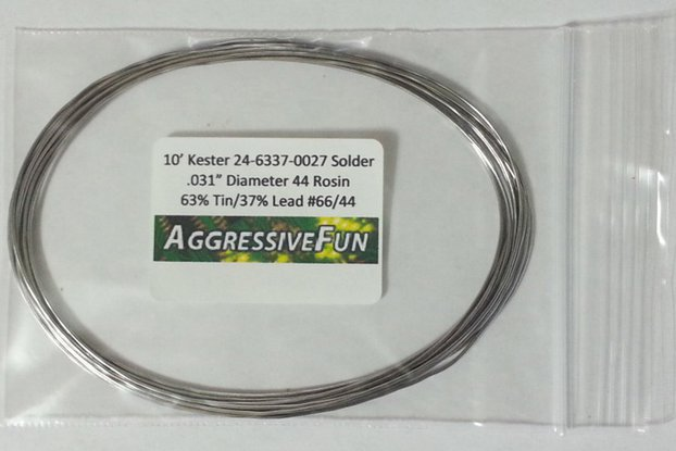 "10ft Kester Solder .031"" 63/37 Tin Lead Rosin Core"