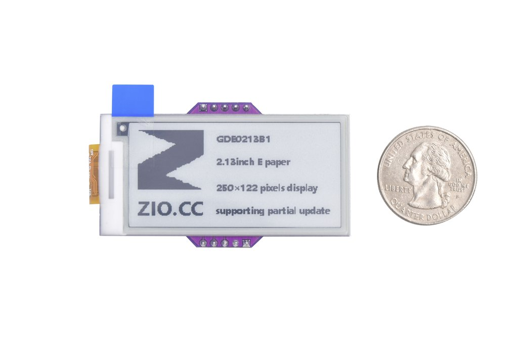 Zio E-Ink Display (2.1in, 2 Grey) 2