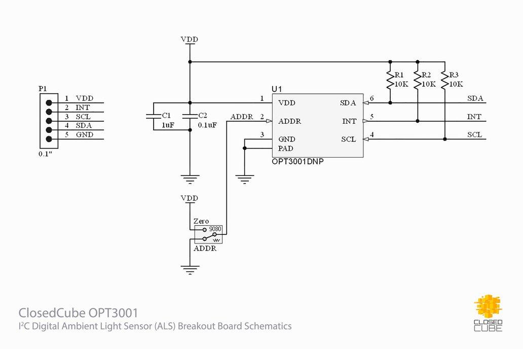 OPT3001 Digital Ambient Light Sensor Breakout 5